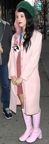 Melanie Martinez looking fashionable while walking on the streets!