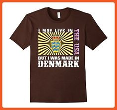Mens Retro DENMARK tee, DENMARK gifts shirt XL Brown - Retro shirts (*Partner-Link)