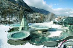 Thermal Bath in Tirol Austria, Aqua Dome Terme