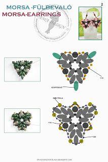 Ewa gyöngyös világa!: Morsa fülbevaló minta / Morsa earrings pattern
