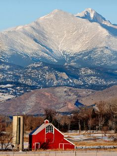 rocky mountain barns  | red barn and rocky mountains jpg the red barn of the historic lohr ...