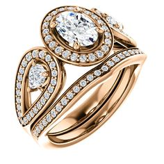 0.75 Ct Oval Ring 14k Rose Gold – Goldia.com