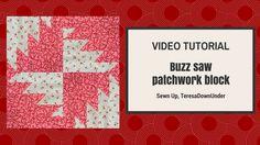 Buzz saw patchwork block - step by step