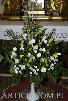 dekoracja kościoła  www.artico.com.pl www.facebook.com/artico.kwiaty