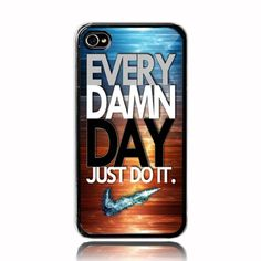 Every damn day just do it nike logo A iphone 5 5s case | MJScase - Accessories on ArtFire