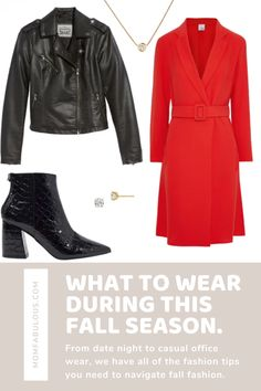 Heading out for a date night? Slip on a beautiful Mini Wrap Dress, add a pair of Heeled Ankle Boots and don't forget a Classic Moto Jacket for the perfect cozy-chic look. #MomLife #MomFabulous #fashion #fallfashion #OOTD Holiday Style, Holiday Fashion, Autumn Winter Fashion, Spring Fashion, New Years Outfit, Stitch Fix Outfits, Travel Outfits, Running Leggings, Thanksgiving Outfit