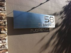 Stainless Steel Sign, Grade 316 with brushed finish and mounted with Mounting Studs.