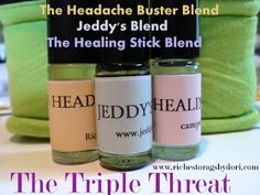 *Riches to Rags* by Dori: The Triple Threat - Three MUST HAVE Essential Oil Blends