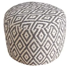 Sitzhocker Samouco | Farbe: Grau gemustert rund, grau gemustert