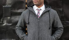 The Academic Hoodie: at home on the fashion runway or the tenure track. Only at Betabrand.com.