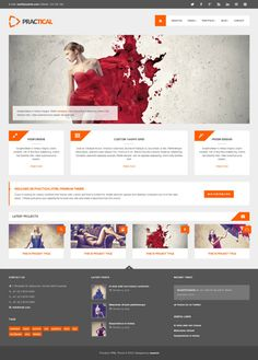 40 Inspirational examples of orange color in web design