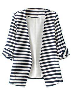 blue and white blazer