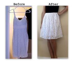 Dress Repurposing - I so need to do this with one of my favorite dresses