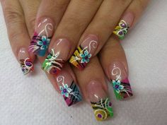 Want these on MY nails Acrylic Nail Designs, Nail Art Designs, Acrylic Nails, Beautiful Nail Designs, Beautiful Nail Art, Hot Nails, Hair And Nails, Pink Black Nails, Fingernails Painted