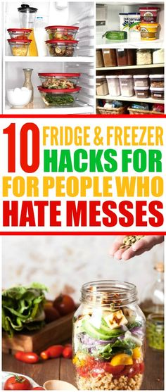 10 fridge organization ideas and freezer organization tips are THE BEST! I'm so glad I found these AMAZING organization ideas! Now I have some great ways to keep my kitchen and fridge clean! Freezer Organization, Home Organization Hacks, Kitchen Organization, Organizing Ideas, Refrigerator Organization, Organizing Life, Freezer Hacks, Freezer Meals, Freezer Cooking