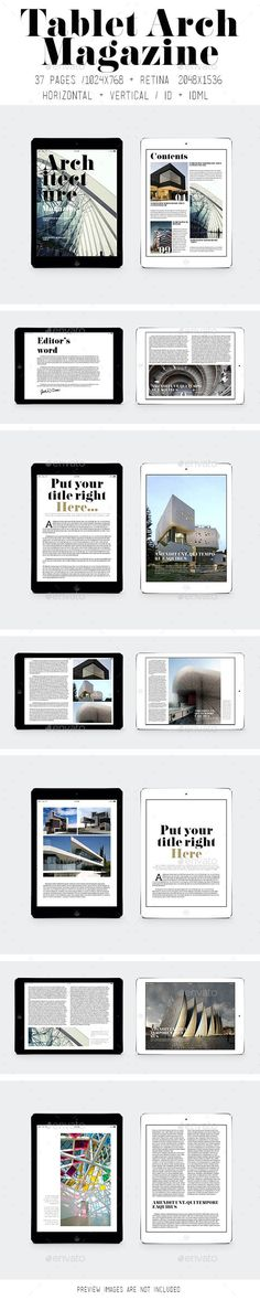 iPad & Tablet Arch Magazine Tempalte #design Download: http://graphicriver.net/item/ipad-tablet-arch-magazine/9191761?ref=ksioks
