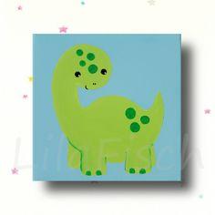 Bilder - Kinderzimmer Bild,Bild Babyzimmer,Kinderbild Dino - ein Designerstück von LilaFisch bei DaWanda