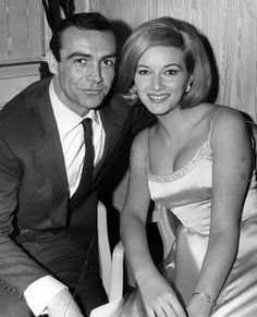 Sean Connery and Daniela Bianchi, the stars of FROM RUSSIA WITH LOVE (1963)