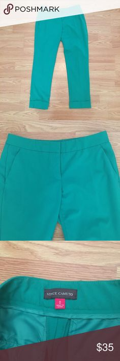 Vince Camuto green pants Vince Camuto green pants. Great for work in very good condition. Also check out matching blazer in my closet! Vince Camuto Pants
