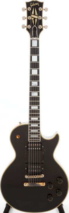 Steve Marriotts 1957 #Gibson #LesPaul Custom Black Solid BodyElectric #Guitar