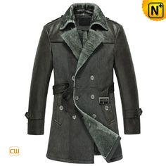 www.cwmalls.com PayPal Available (Price: $1695.89) Email:sales@cwmalls.com; Mens Double Breasted Sheepskin Leather Coat CW856058 Iconic style men's double breasted sheepskin leather coat put winter on the outside, comfortable Turkey imported lamb fur shearling lining and genuine leather exterior winter shearling pea coat for men warms you all season long!
