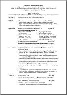 computer technician sample resume alexa. Resume Example. Resume CV Cover Letter
