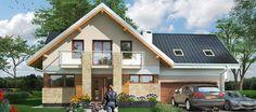 Projekt domu Kaja Muza. Nowoczesne projekty domów jednorodzinnych.