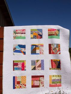 love the wide binding and borders on this crumb quilt. The Garden of Needles Scrappy Quilt Patterns, Scrappy Quilts, Easy Quilts, Quilt Blocks, Block Patterns, Quilting Projects, Quilting Designs, Quilt Design, Quilting Tips