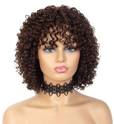 100% Remy human hair wig with soft, short, loose, deep curly, 12 inch . Hair is easy to comb, glueless and has virtually no shedding. Wig uses classic cap with elastic lace, straps and combs allows easy application and removal, which makes it perfect for everyday use. Fits head circumference 22 to 22.5 inches.
