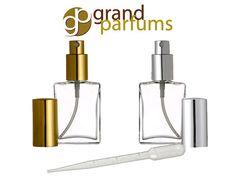 sALe 1 to144 PERFUME ATOMIZERs Empty GLASS Spray by GrandParfums