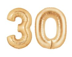 Giant 30 Balloons Copper Rose Gold Number by PaperboyParty
