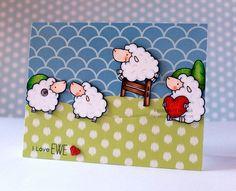 I Love Ewe, MFT Stamps, My Favorite Things, Copics, Birdie Brown Stamps, cn designs, birdie brown, mft stamps, EWE Are The Best