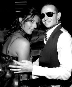 Chester and Talinda Bennington, all dressed up!
