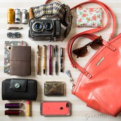 Our photographer Sarah is revealing her creative and colorful side with #WhatsInMyBag this week! You'll find her using her Canon here at work, but her Yashica-A TLR camera loaded with Kodak film is what she enjoys using every day.