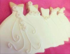 The first ones I ever made!  #bridalshowerfavors #bridalshower #weddingfavors #weddingcookies #cookie favors #desserttable #desserttableideas