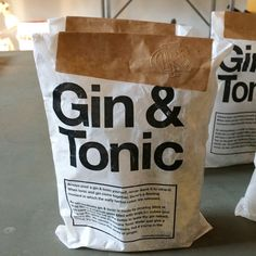 Gin & Tonic Emergency Kit — More than just curious paper packaging (though it is lovely, thanks to design agency Rare Fruits Council)