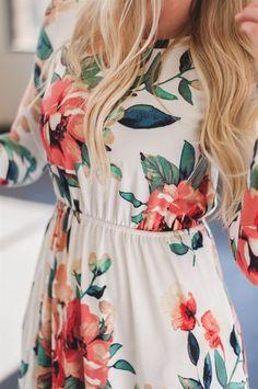 Pastel Floral Midi Dress | 4 Prints