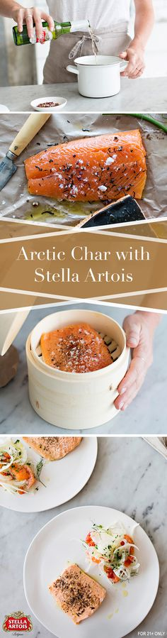 Using Stella Artois as a broth to steam seafood is an easy way to cook a delicious meal with your favorite pale lager. If you're looking for a fresh take on a fish dish or want to try out a Belgian inspired meal, look no further than Master Chef Daniel Joly's Steamed Stella Artois Arctic Char with Fennel Orange Salad.
