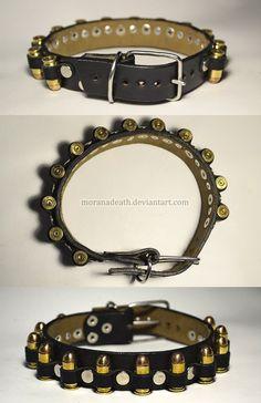 Dog collar and pistol ammunition 9mm by MoranaDeath on DeviantArt