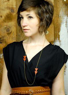 {hair!} Arrow Necklace By Bark Decor