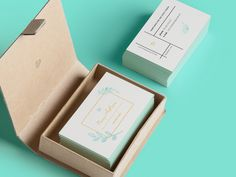 Get inspiration and business card ideas from designs like this one by Anastasiia Rafayenko