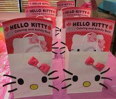 6 bolsas de cumpleanos de hello kitty