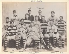 Bowdoin College Varsity Baseball team, 1895.  My great grandfather Francis Dane I is on the far left.