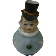 Miniature antique figural Clown Perfume Bottle. 2-1/4 tall. No stopper; unmarked; excellent condition. sold