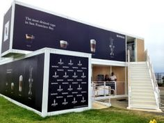 Nespresso Pop-Up Cafe at the America's Cup Container Restaurant, Pop Up Restaurant, Restaurant Design, Café Container, Container Design, Pop Up Cafe, Container Buildings, Container Architecture, Sustainable Architecture