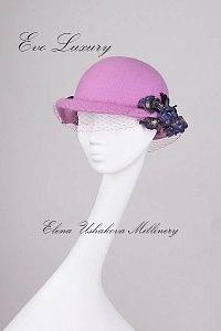 Женская шляпка Маркиза де Помпадур в лиловом