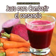 Jugo para combatir el cansancio✅el conjunto de estos ingredientes se convierte en un delicioso alimento para combatir la fatiga, ayuda al sistema digestivo y mejora la circulación sanguínea