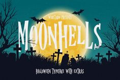 Moonhells Typeface + Extras By wubstudio