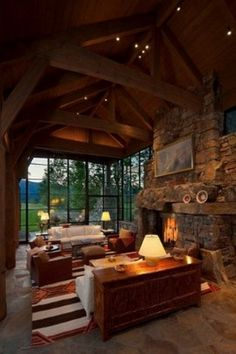 From kitchens to living rooms and beyond, discover inspiration with the top 60 best log cabin interior design ideas. Explore cool mountain retreat homes. Cabin Interior Design, Chalet Interior, Rustic Home Design, House Design, Rustic Style, Modern Rustic, Interior Ideas, Modern Lodge, Cabin Design