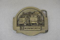 Kenworth Truck Semi Tonkin 1985 Vintage Belt Buckle Model C-42 #TonkinInc